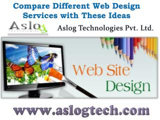 Compare Different Web Design Services with These Ideas