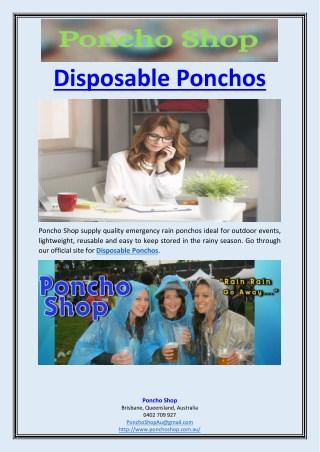 Disposable Ponchos