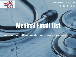 Medical Mailing List | Medical Email List | Healthcare Marketing Lists