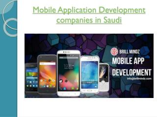 Mobile Apps Development companies in Saudi