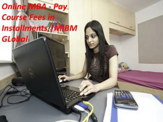 Online MBA - Pay Course Fees in Installments