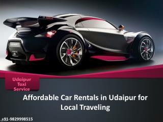 Affordable Car Rentals in Udaipur for Local Traveling