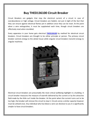 Buy THED136100 Circuit Breaker