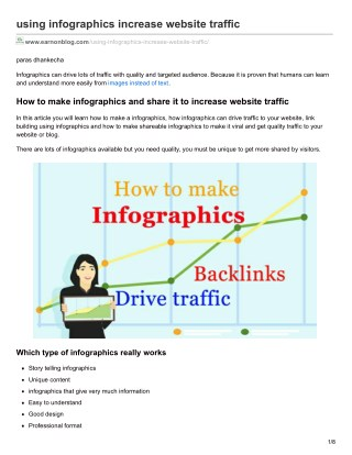 drive traffic and backlinks to website from inforaphics