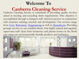 House Cleaning in Canberra