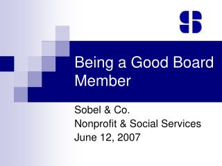 Being a Good Board Member