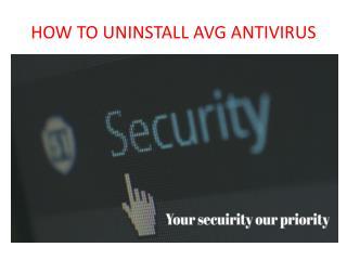 How to uninstall avg antivirus in windows 10