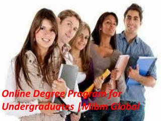 Online Degree Program for Undergraduates in Noida