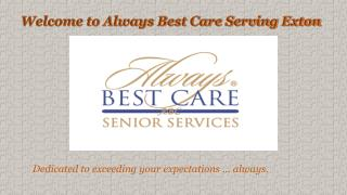 In home Care Southeastern Pennsylvania - Always Best Care