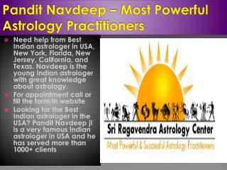 Pandit Navdeep - Best & famous Indian astrologer in New York, New Jersey, California, Texas, Florida, USA