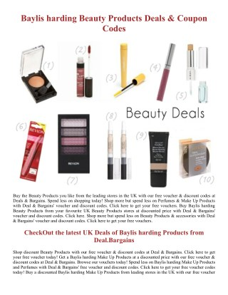 Baylis harding Beauty Products - Deal.Bargains