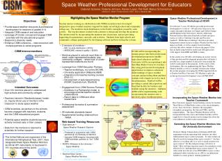 Space Weather Professional Development for Educators Deborah Scherrer, Roberta Johnson, Ramon Lopez, Pat Reiff, Marius S