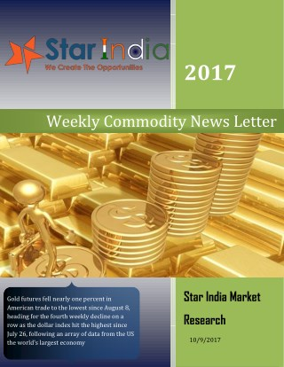 Weekely Commodity Latter 09 October