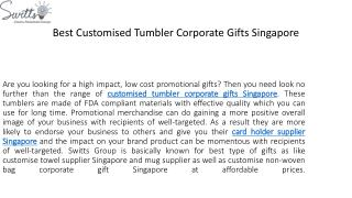 Best Customised Tumbler Corporate Gifts Singapore