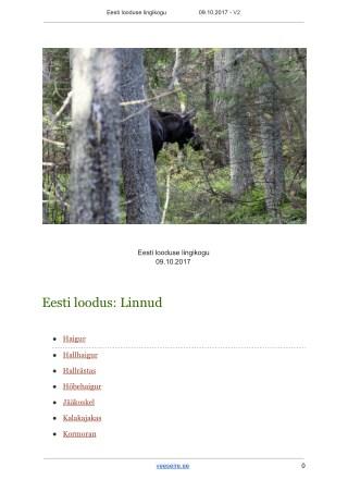 Eesti Looduse Lingikogu V2 - veeseire.ee
