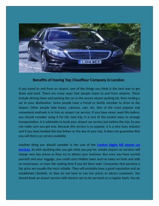 Chauffeurs service in Heathrow airport to luton airport in london