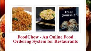 FoodChow online ordering system
