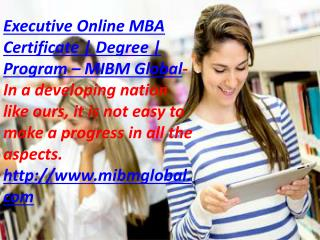 Executive online mba degree to make a progress in all the aspects