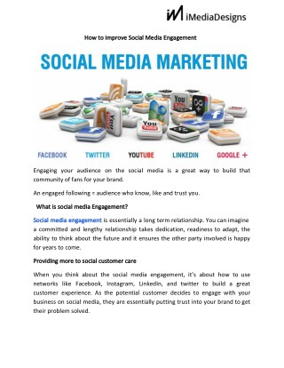 How to improve social media engagement