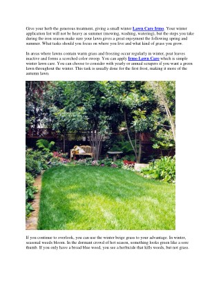 Winter Lawn Care Tips - CNS Lawncare & Property Maintenance