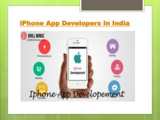 iPhone App Developers In India