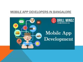 Mobile App Development Company In Bangalore