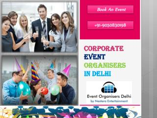 Corporate Event Organisers in Delhi