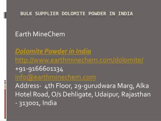Bulk Supplier Dolomite Powder in India