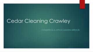 Commercial Cleaning Services Crawley