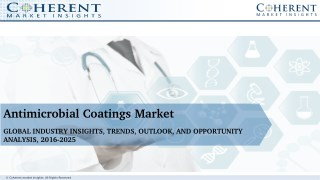 Antimicrobial Coatings Market - Global Industry Insights, Trends, Outlook, and Opportunity, 2016-2024