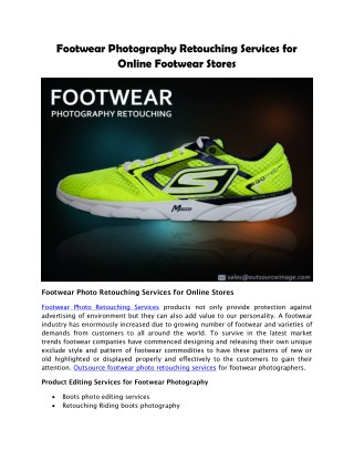 Photo Editing Services for footwear brand owners | Shoes Photo Retouching
