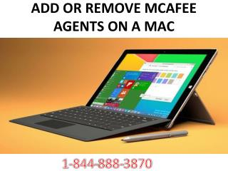 ADD OR REMOVE MCAFEE AGENTS ON A MAC