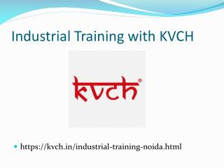 Presentation for industrial training courses in noida