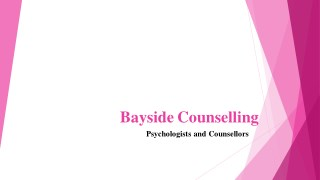 Psychological Counselling Treatments For Depression - Bayside Counselling