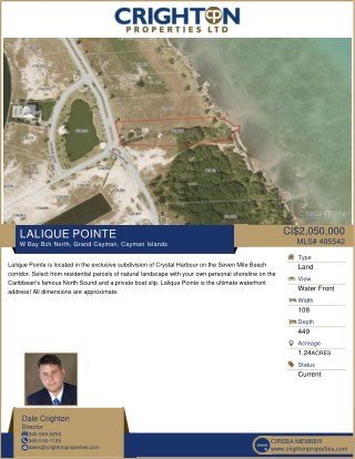 Land on Sale - LALIQUE POINTE | W Bay Bch North