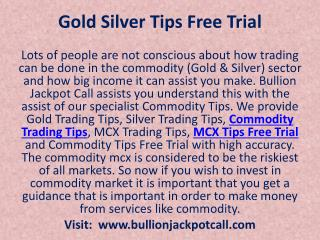 How Trading Can be Done in The Commodity Market with Bullion Jackpot Call