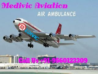 Medivic Aviation ICU Air Ambulance from Patna to Delhi