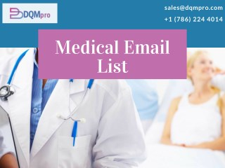 Healthcare Mailing List | Medical Email List | Healthcare Marketing Lists