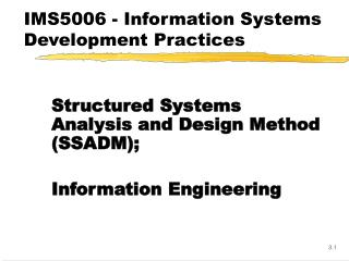 IMS5006 - Information Systems Development Practices