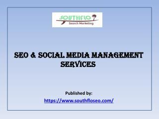 SEO & Social Media Management Services
