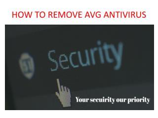 How to remove avg antivirus from windows 7