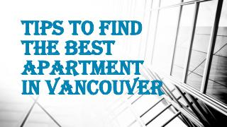 Find your Right Apartment with Efficiency