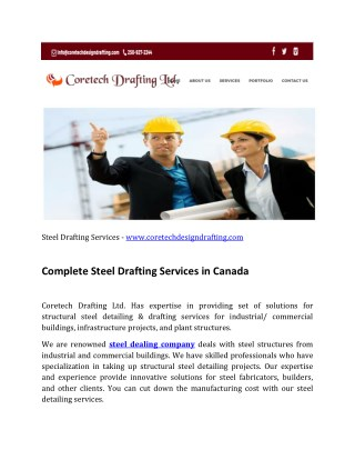 Steel Drafting Services Bc, Canada