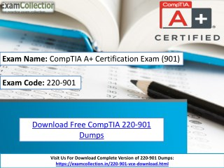 Examcollection 220-901 VCE Download | Examcollection
