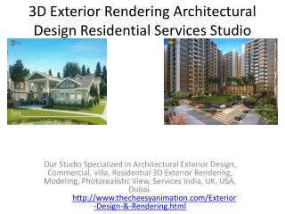 3D Exterior Rendering Architectural Design Residential Services Studio