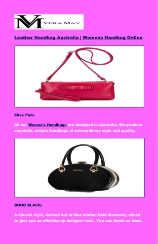 Leather Handbag Australia   Womens Handbag Online