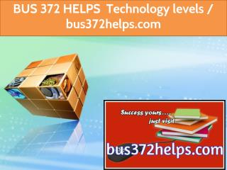 BUS 372 HELPS Technology levels / bus372helps.com