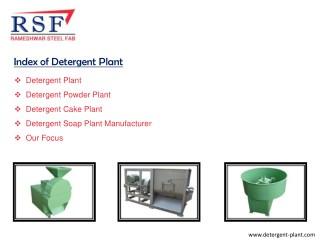 Detergent Plant - Manufacturing for Detergent Cake & Powder