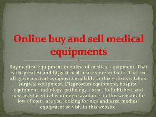 Medical equipments supplier
