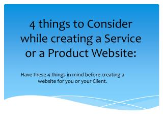 4 things to consider while creating a service